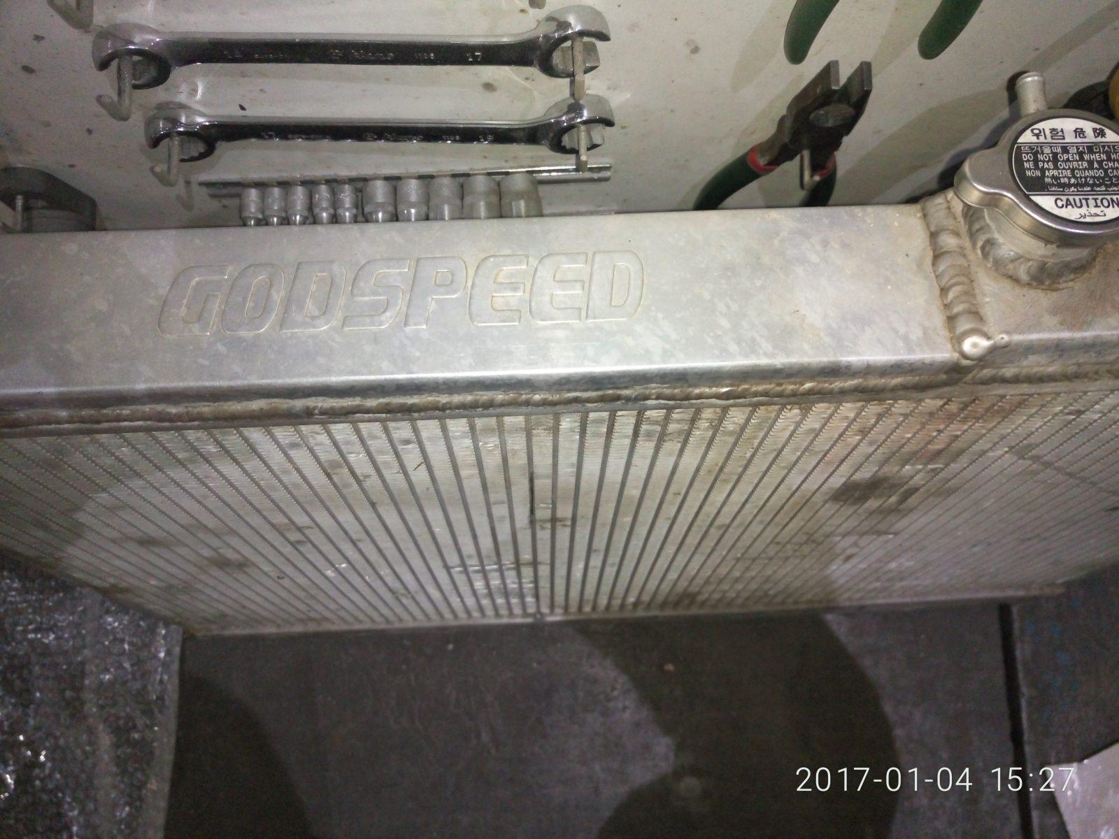 Цельноалюминиевый радиатор godspeed